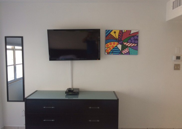 Second bedroom with LED tv and DVD Player