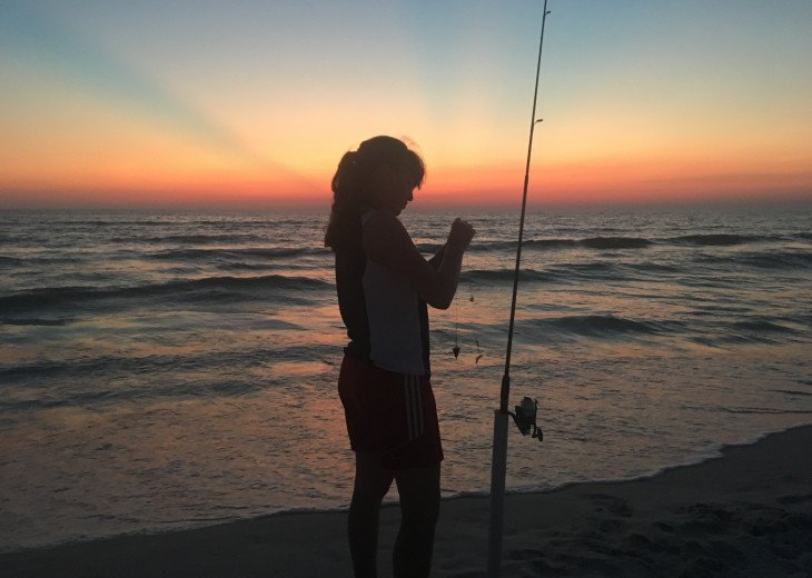 Surf Fishing in the Sunset - It Doesn't Get Any Better Than That!
