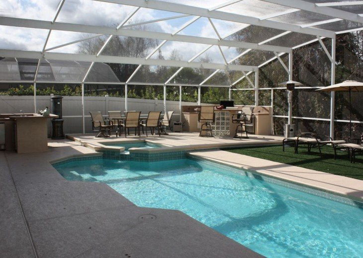 Very private 4 bedroom home with pool & spa #4
