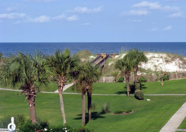 View of the Gulf from the 3rd floor screened porch