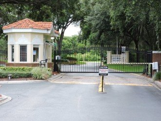 Lake Berkley gated entrance, safe and secure.