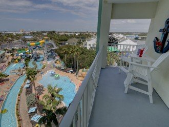 Front balcony overlooking the water park