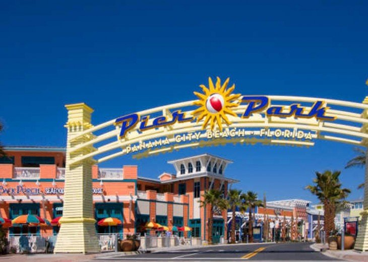 We are located right across the street from Pier Park & all it has to offer