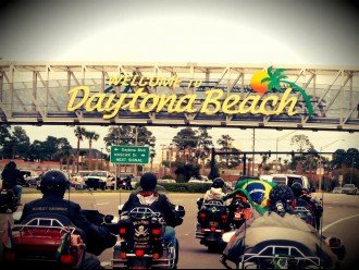 BIKERS COME FROM ALL OVER THE WORLD TO DAYTONA BEACH FOR BIKEWEEK!