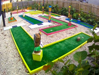 Daytona's only PRIVATE lighted 9 hole PUTT-PUTT EXCLUSIVELY for your use!
