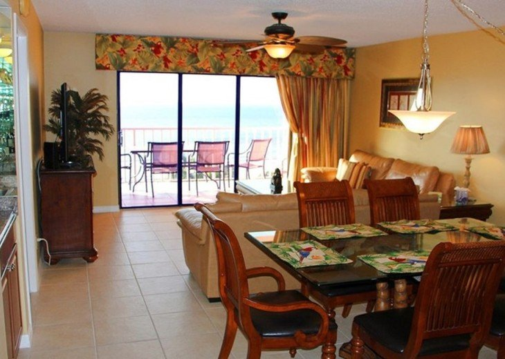 Well appointed furniture, custom drapes, HDTV & the balcony and top floor view!