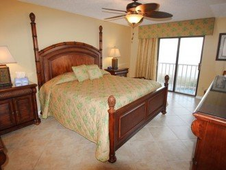Gorgeous Gulf Views from Elegant Master BR & balcony access. JVC HDTV DVR Combo.