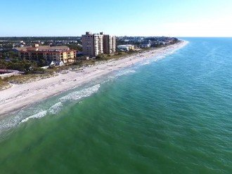 Indian Rocks beach from above the Gulf looking south.