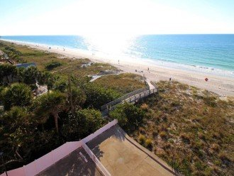 Top floor Reef Club bldg view to s beaches & Treasure Island Johns Pass 8 miles