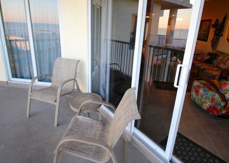 Patio Deck from Master and Living Room Top Floor Gulf View & Expansive Beaches.