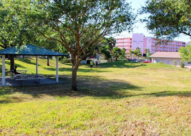 Nature preserve park across the street - Reef Club in background.