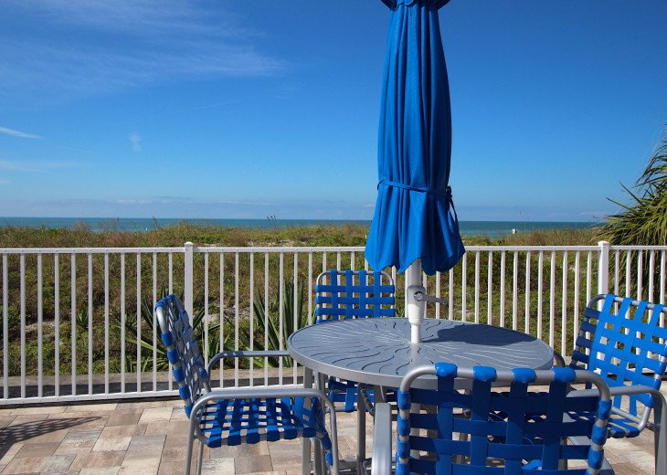 New to Reef Club with built in privacy and luxurious beach access lounge area.