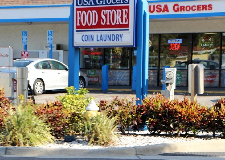 USA Grocers and food store to get what you need and across the street one block.
