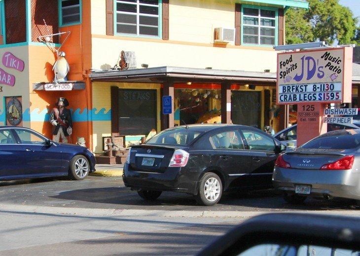 JD's - yes dancing, food, spirits, music, patio has it all 6 block walk!