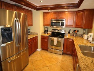 Gorgeous and fully stocked - spice rack, coffee, Keurig & view of the Gulf!