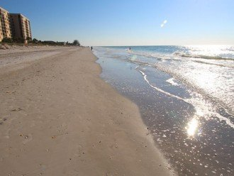 Beach in front of Reef Club looking South - two hours before sunset in November.