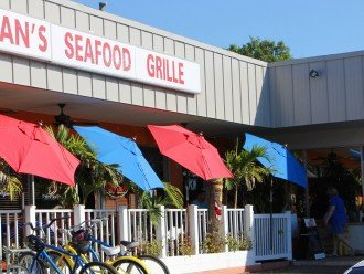 Keegan's Seafood - known for their Grouper sandwich two blocks north Reef Club.