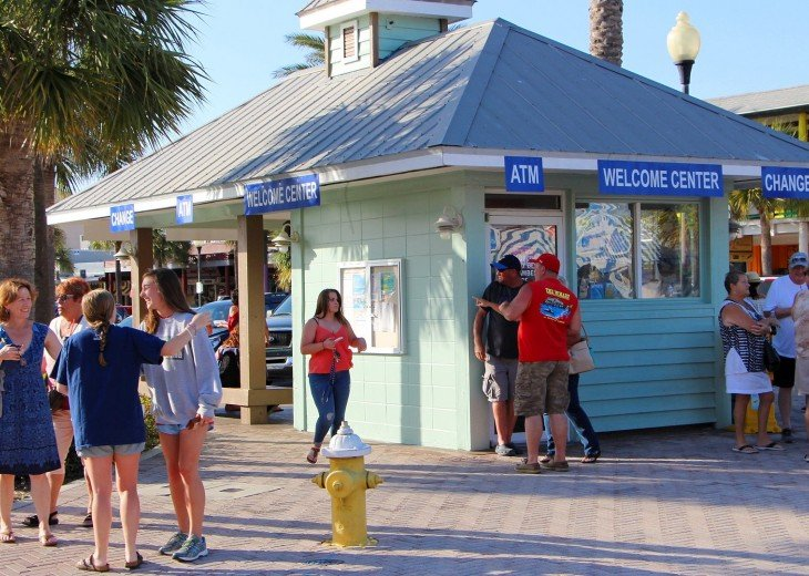 Welcome Center at John's Pass, the focal point for activities on the Gulf Coast.