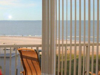 View From Inside Condo Couch Area - Top Floor Gulf View and Expansive Beaches.