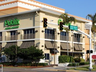 Publix is less than half a mile south on Gulf Boulevard!