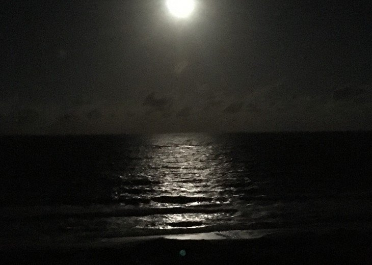 Moonrise from balcony