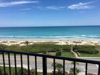 Beach views from balcony