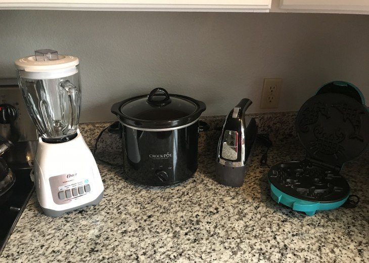 For your culinary needs: Blender, Crock-Pot, Mixer & Waffle-Maker