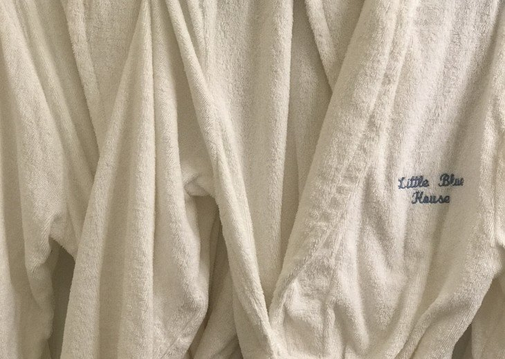 Four Adult size Terry Robes for your use.