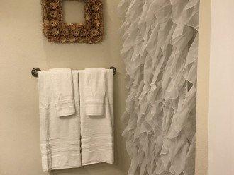 Master Bath - oversized shower and oversized Hotel style Bath Towels