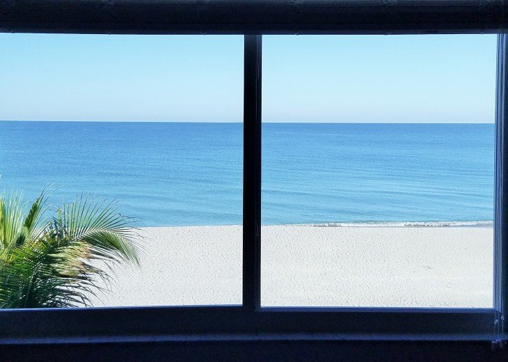 View from 4 x 6 foot window in master suite - listen to the waves as you sleep