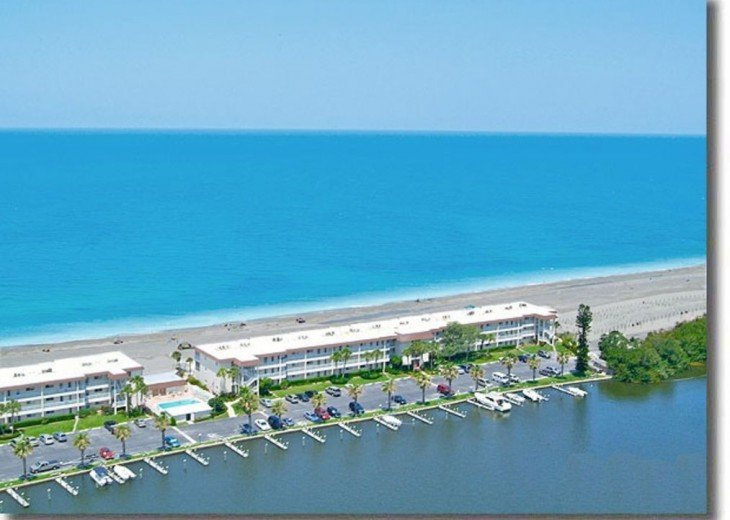 We are on a VERY narrow strip of sand providing direct oceanfront and bay-front