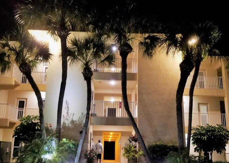 Beautifully landscaped grounds - the entrance to our condo