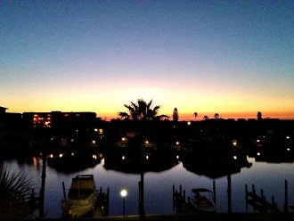 Sunrise over the bay from the guest bedroom window