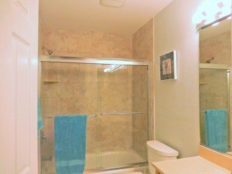 Guest bath - guest wing can be closed off for private bath access