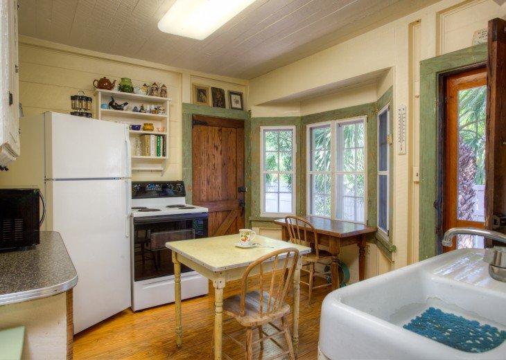 Kitchen..one door to yard other door to garage