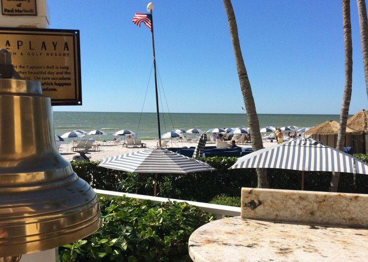 Dinner Bell at LaPlaya on the beach just a few steps from the condo