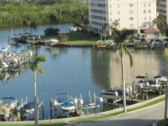 View of yacht basin from the condo