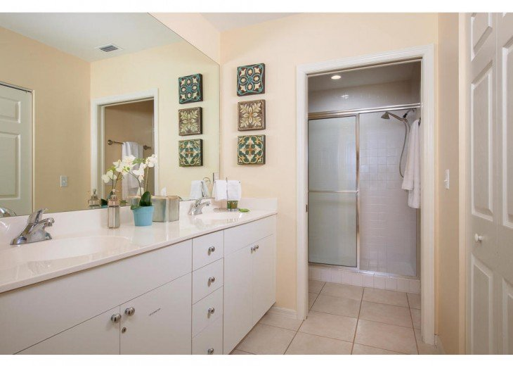 Spacious Master bathroom with walk-in closet.