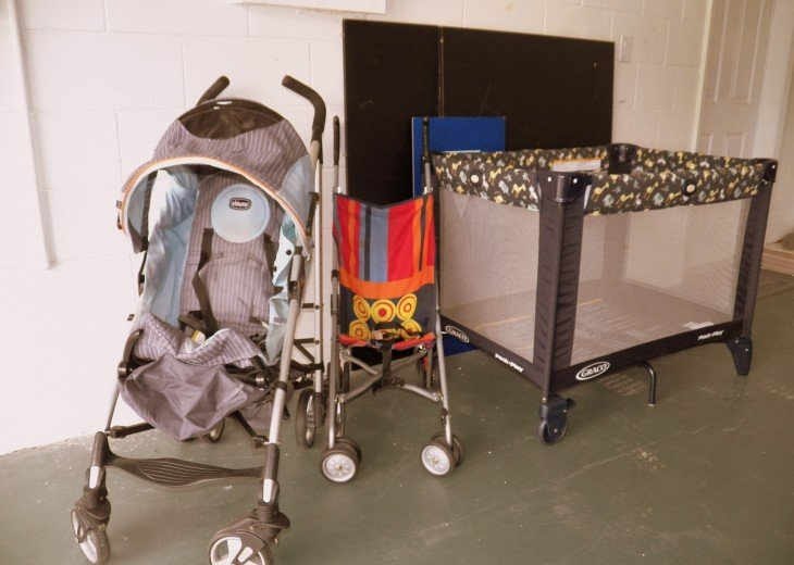 Baby Equipment: Strolers, Portable Crib, High Chair