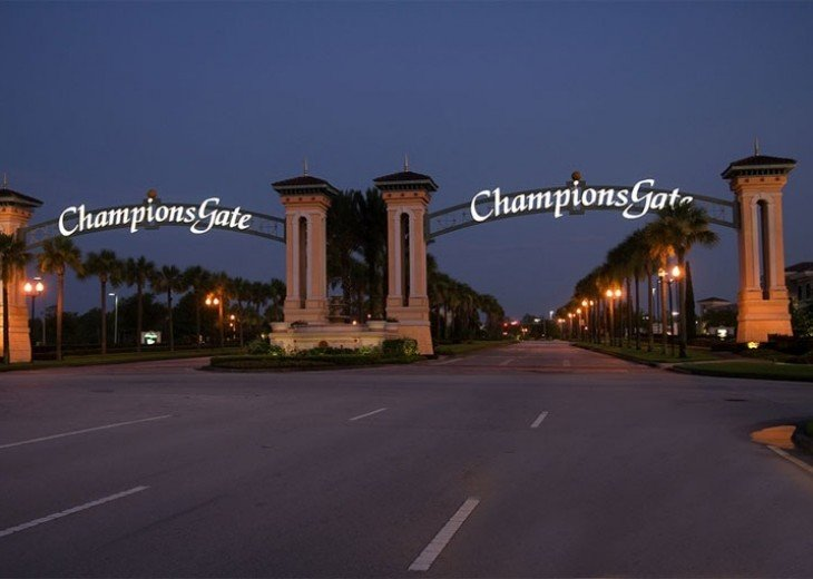 The Champions Gate golf is only a mile away