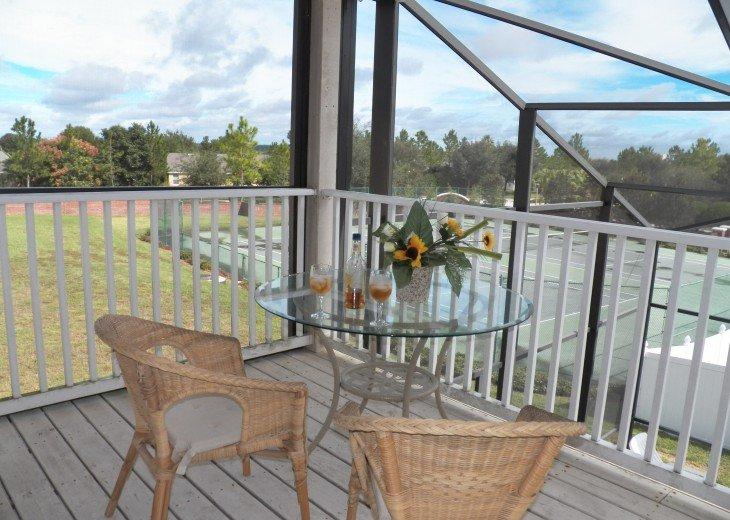 Overlooking Tennis match on Balcony