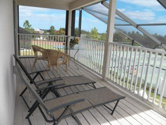 Balcony Overlooking Pool, Tennis courts