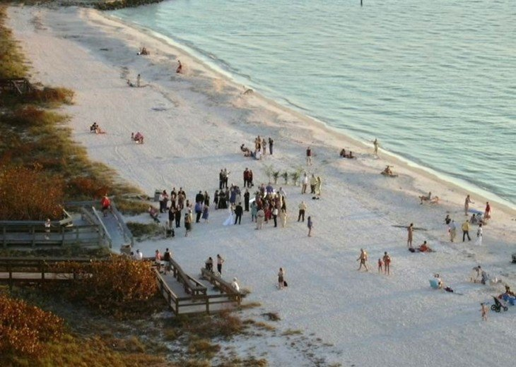 A beach wedding.