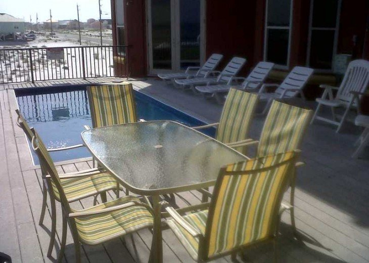 A true gulf front house with a balcony pool #13