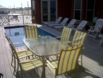 A true gulf front house with a balcony pool #1