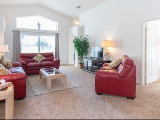 Spacious, comfortable Family Lounge; a great space to relax after a hectic day a
