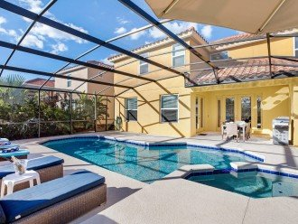 Private Pool with spa and conservation views