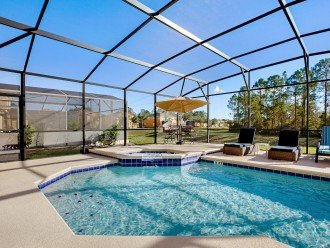 South facing private pool with spa