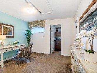 Upstairs Hallway with desk