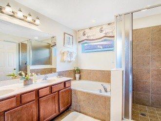 Master Suite 2 - En-suite Bathroom with bath and walk-in shower